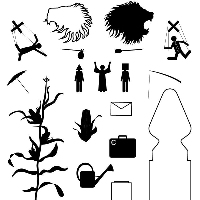 Pictogrammes inédits réalisés pour Les Monstres d'Amphitrite.