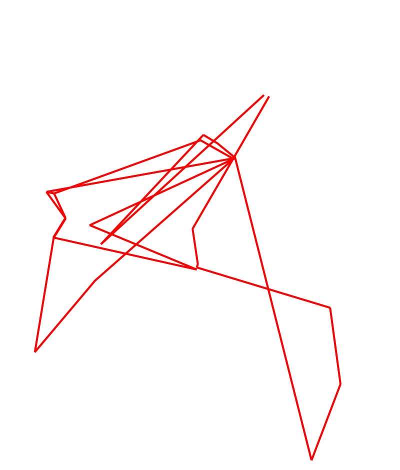 On peut s'amuser à obtenir des dessins abstraits en modifiant les paramètres des tracés (ici à partir de trois circuits). Les possibilités sont infinies.